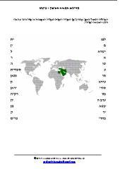מדינות המזרח התיכון - פיצול מילים